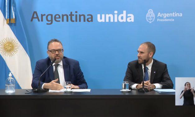 Anuncios de Martín Guzmán y Matías Kulfas
