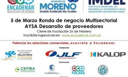 Moreno decidió vincular a sus pymes con las de nuestra región